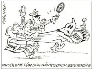 Karikatur Probleme, Schwalge